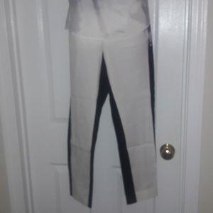 Black & white mid-rise pants